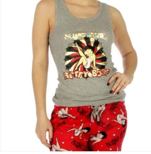 "Betty Boop /""Sexy Boop Love/"" Pajama Set L Cotton M White//Red S"