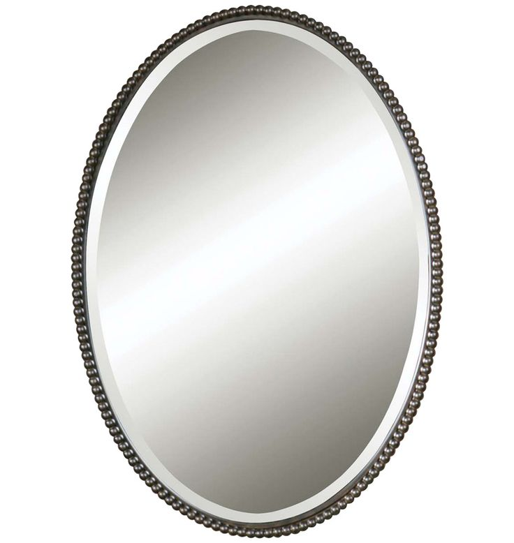 Contemporary Art Websites Beaded Oval Mirror