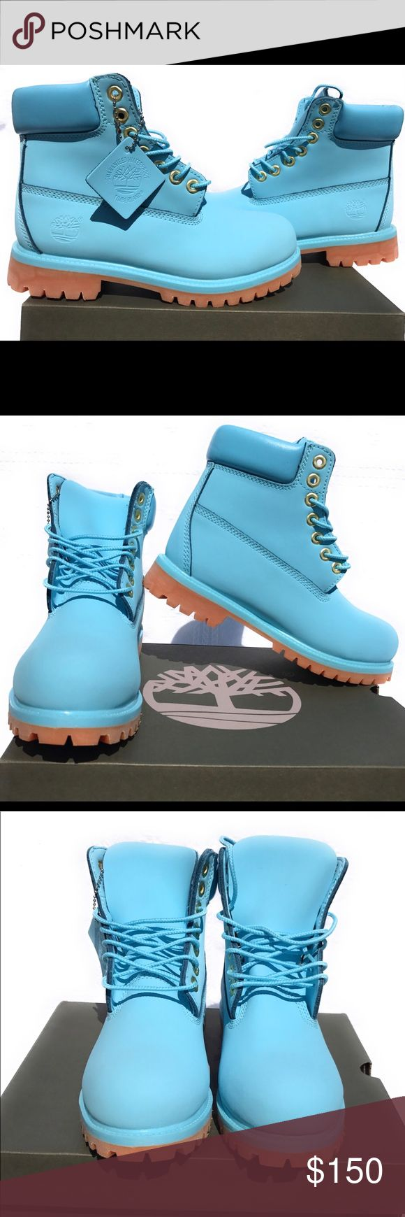 Spotted while shopping on Poshmark: New blue timberlands boots! #poshmark #fashion #shopping #style #Timberland #Shoes