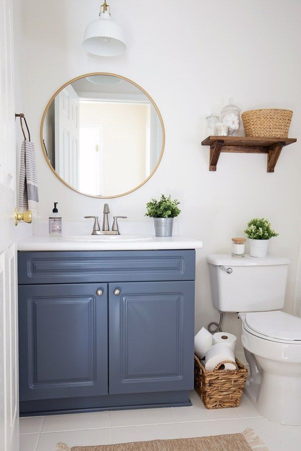 A 100 Budget Bathroom Makeover Transformation With 5 Easy Tips For Making Over Your Ba Bathroom Makeovers On A Budget Small Bathroom Remodel Bathroom Makeover