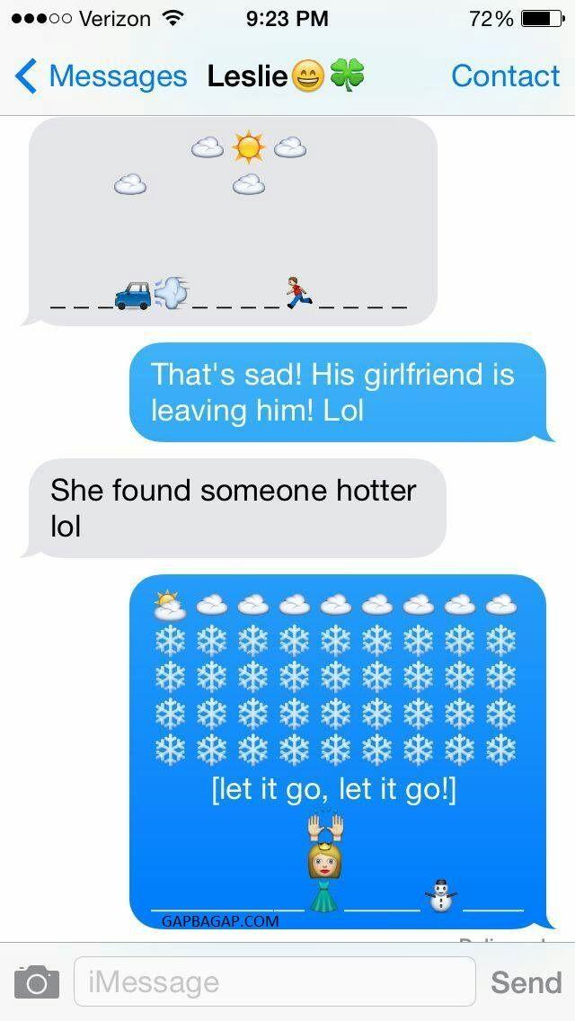 Hilarious Emoji Conversation About Ex