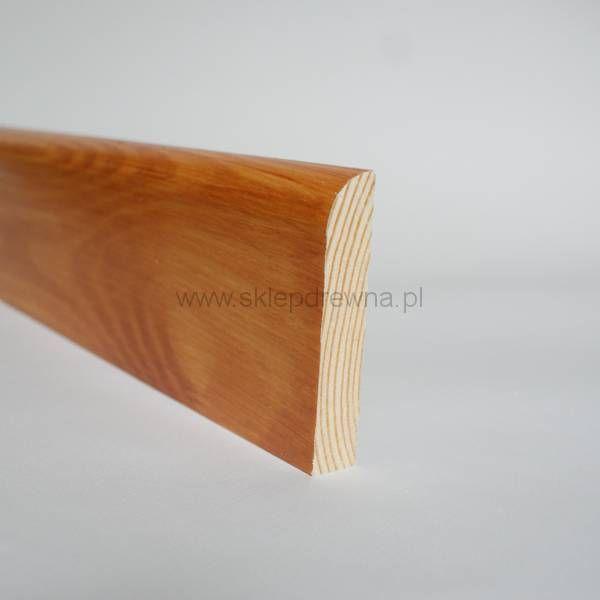 Listwa przypodłogowa z drewna litego cokół malowana ala Tek 1,8x9cm Sklep Drewna