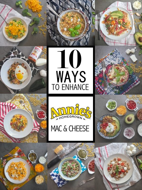 10 Ways to Enhance Annie's Mac & Cheese // shutterbean  [for GF/veg: use boxed GF/vegan mac + cheeze; use substitutes for meat/cheese easily!; use this post as inspiration]