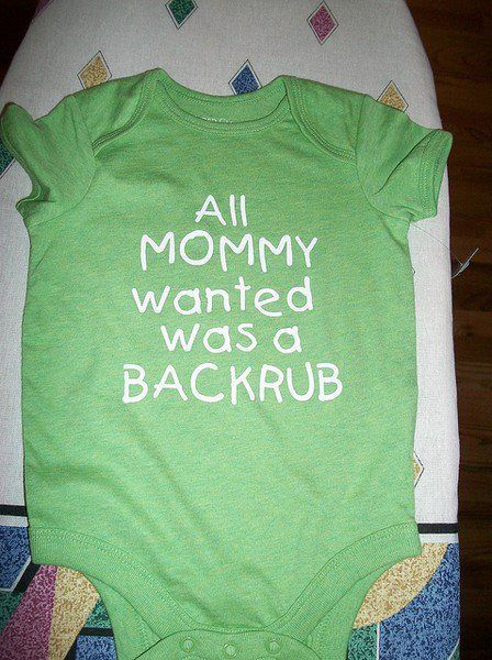 I would make my baby wear that.... And i would make a shirt similat for me during pregnancy. Just sayin.