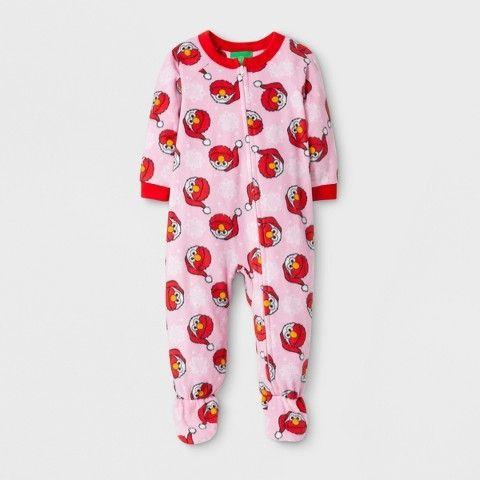 Baby Girls' Sesame Street Long Sleeve Footed Blanket Sleeper - Pink