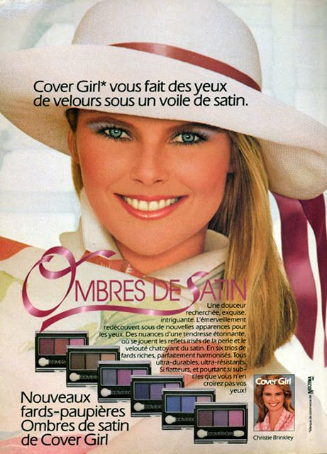 Christie Brinkley Cover Girl ad 1980's http://80s90sredux.tumblr.com/page