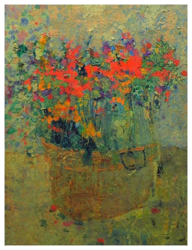 Mark English Producción artística, Arte con flores