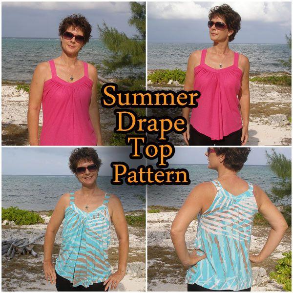 Summer Top drapeado. Patrón de costura libre y paso a paso la foto tutorial de So Cosa Fácil.