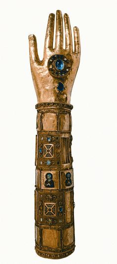 Reliquary of the arm of Saint Blaise, Palermo, 12th century