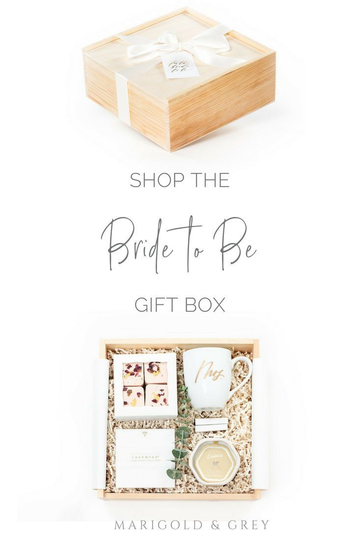 Bride To Be Pre Designed Gift Box Collection Marigold Grey