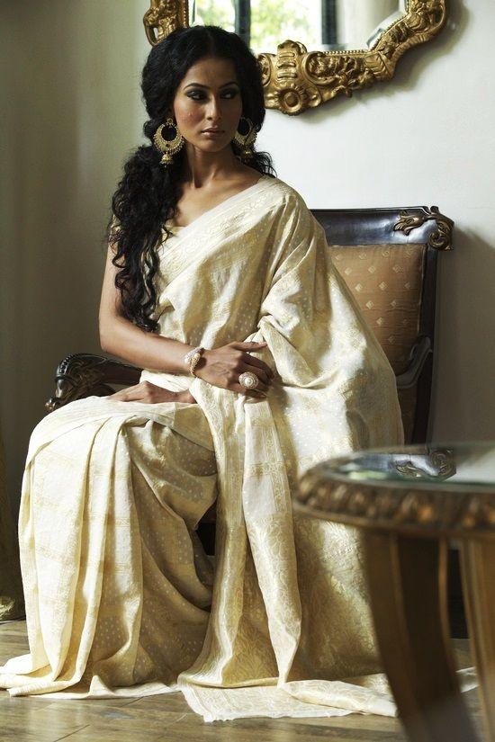 #saree #white #love