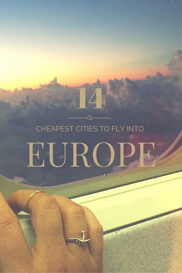 And here they are... a list of the top 20 cheapest cities in Europe to Fly Into to save you cash!
