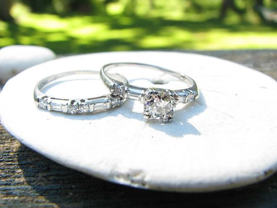 vintage wedding rings :)