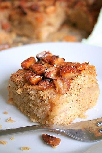 Gâteau aux Pommes Spécial & Amandes Caramélisées (farine de mats > pain azyme)