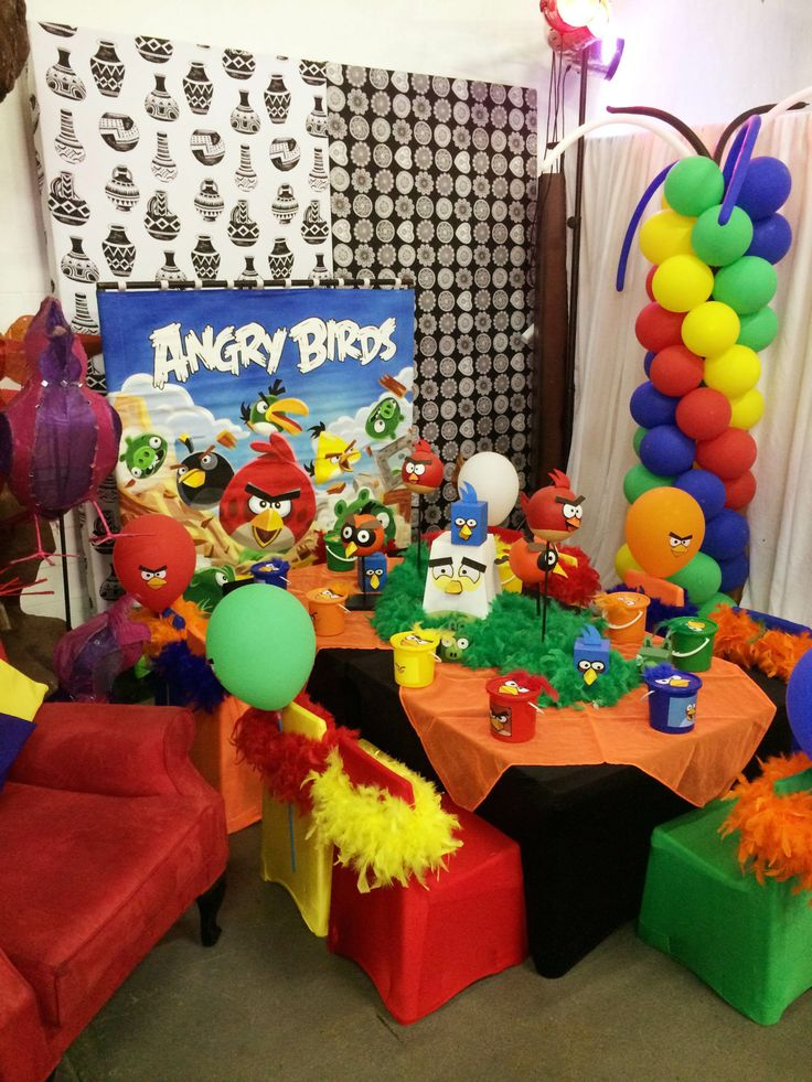 Dipsy Dots kids party theme - Angry Birds www.unlimitedevents.co.za