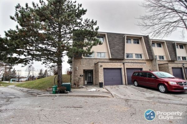 Welcome to 16 Reygate Court, Ajax ON.  Don't miss this rare 4 bedroom, 3 washroom end-unit townhome situation on a quiet court in south Ajax by the lake! The main level of this family home features a brand new kitchen with oak countertops, backsplash and cabinets, an energy efficient dishwasher and refrigerator. The main level also offers a dining room and a spacious living room that walks out the private backyard with jacuzzi hot tub, perennial gardens and mature trees with western expos...