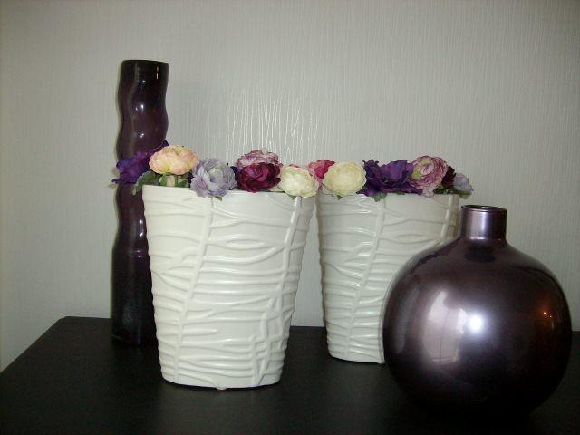 decoratie bij de paarse kussens