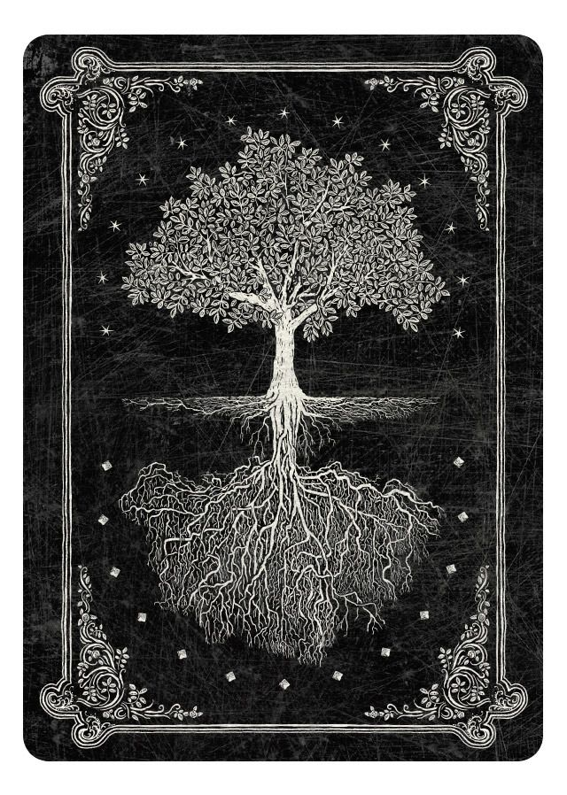 Arcana Playing Cards inspired by Tarot-Artwork by Chris Ovdiyenko, Dead on Paper-Card back dark