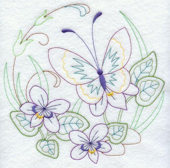 Círculo da borboleta - Violetas (Vintage)