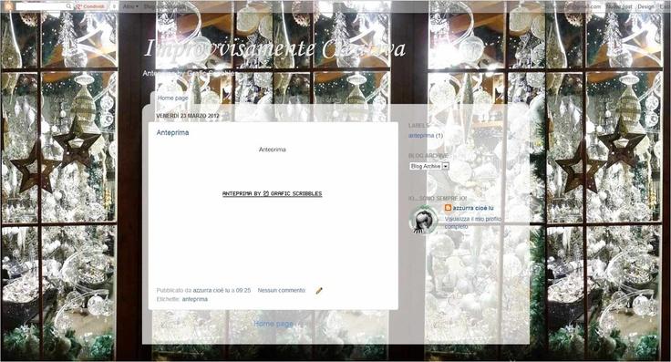 Grafic Scribbles: ...e lo sfondo natalizio da uan sua foto per AnnaMaria
