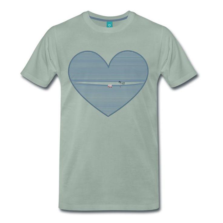 t shirt decorata con cuore