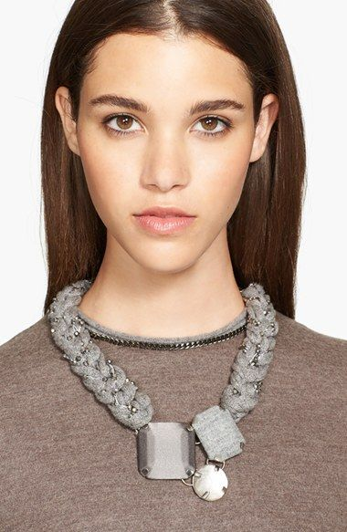 Fabiana Filippi 3-Stone Braided Necklace