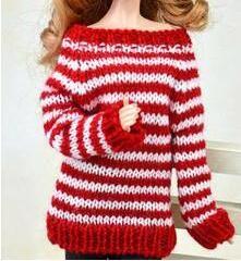 Cxzyking barbie одежда свитер + кожаные штаны ручной полосы вязаный свитер куклы аксессуары одежда barbie кукла аксессуарыкупить в магазине HAE&LOVE SHOOPING StoreнаAliExpress