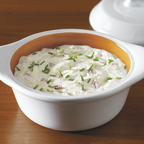 Roasted Garlic & Onion Dip - The Pampered Chef®For this recipe and others contact us at pampered chef is.com/toops2havefuncooking.