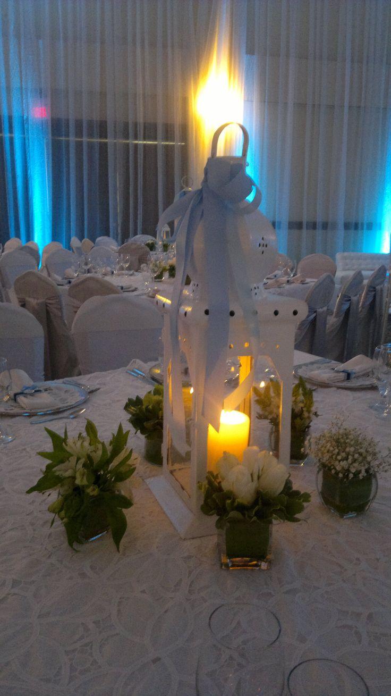 Bautizos centros de mesa para bautizo faroles con velas - Centros de mesa otonales ...