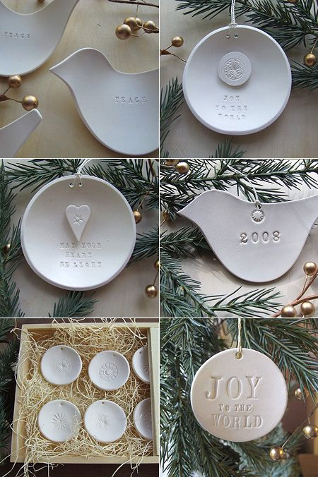 Decocentric - photo with nice ideas for clay ornaments (site not in English)