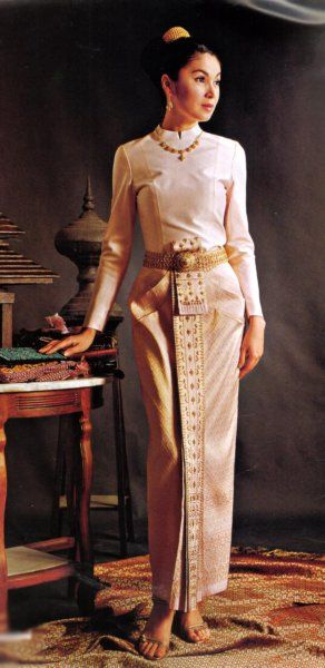 Long Sleeved Thai Style Wedding Dress