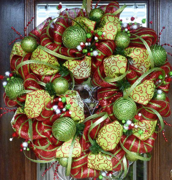 Christmas Wreath: Christmas Wreaths, Craft, Whimsical Christmas, Wreath Ideas, Christmas Decor, Deco Mesh