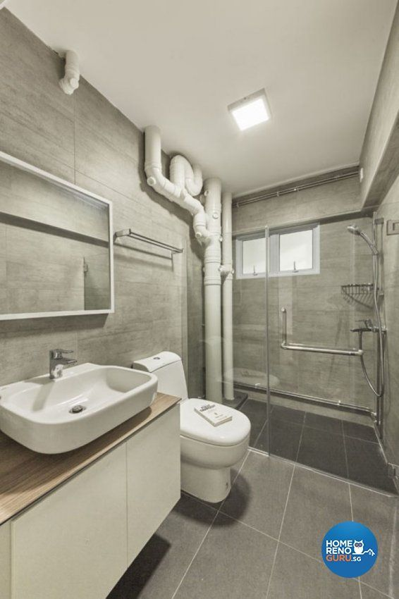 Minimalist Scandinavian Design Bathroom Hdb 5 Room Design By Carpenters Com Sg Toilet Design Marble Bathroom Designs Washroom Design
