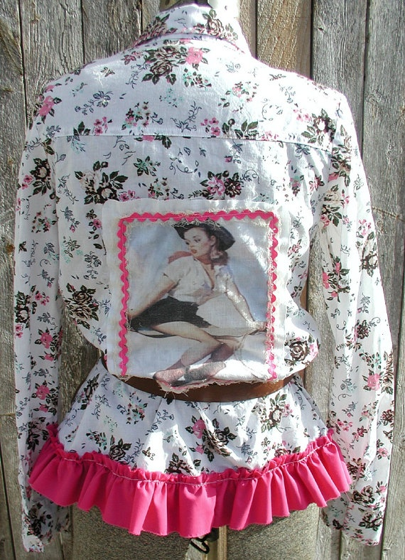 Upcycled Cowgirl Chic Shirt by tatteredgrace on Etsy, $42.00