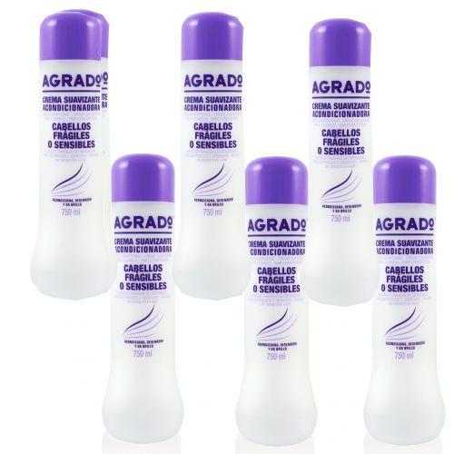 Après Shampoing revitalisant pour cheveux fragiles et sensibles. Il agit en profondeur sur les zones endommagées de cheveux, la réparation sans alourdir la structure du cheveu. Agrado est une marque utilisée par les coiffeurs en Espagne.