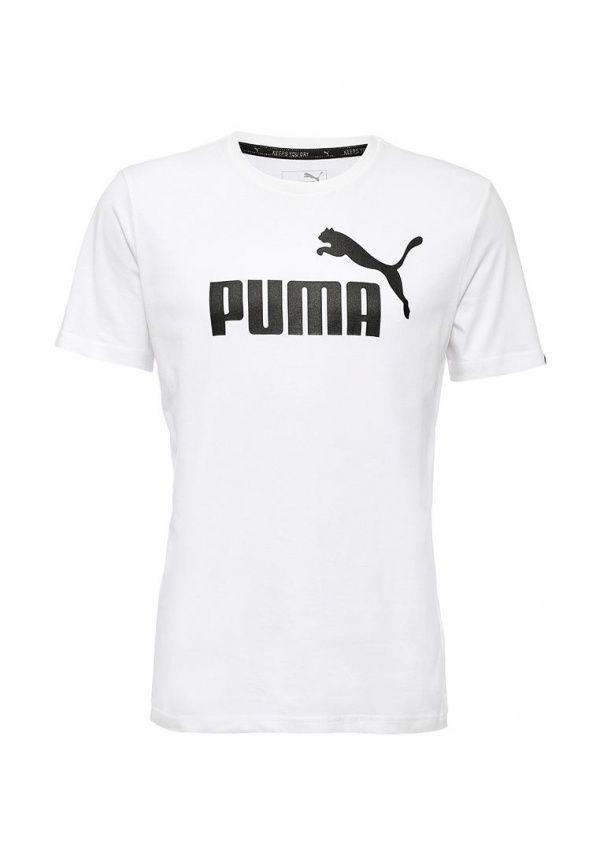 Футболка Puma ESS No.1 Tee Футболка Puma. Цвет: белый.  Сезон: Осень-зима 2016/2017. Одежда, обувь и аксессуары/Мужская одежда/Одежда/Футболки