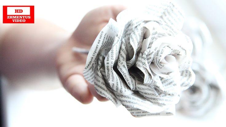 Как сделать розы из бумаги своими руками   How to make a paper rose from...