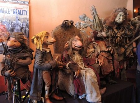 "The entire puppet cast from Toby Froud's ""Lessons Learned"" greeted fans in the Hollywood Theatre lobby Saturday. L to R: Digby, Boy, Grandfa..."