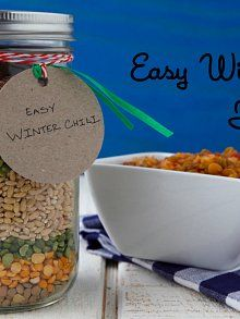 This Looks good, HEALTHY and a little different.  LENTILS SPLIT PEAS AND BARELY!   MUST TRY ASAP!! Homemade Gift: Easy Winter Chili in a Jar | Weelicious