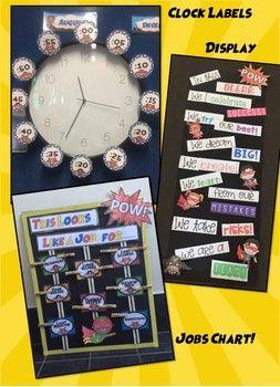 Superhero Classroom Decor Set!!