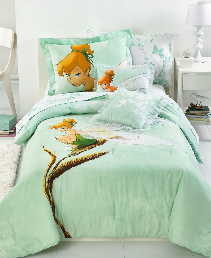 Disney Bedding, Tinkerbell Tink Watercolor Twin Comforter Set