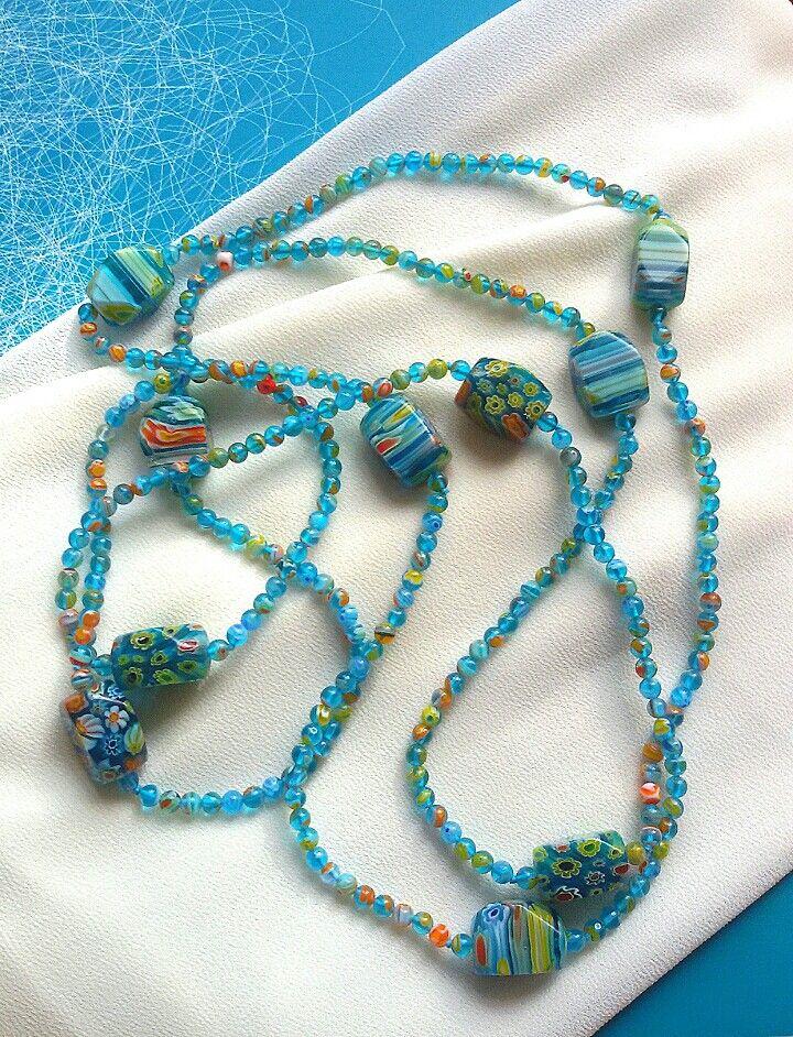 Murano. Ожерелье из стекла мурано.