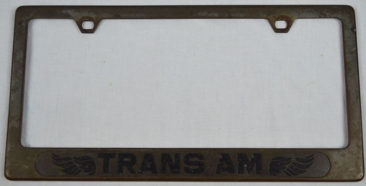 Vintage Metal TRANS AM License Plate Frame - Original Cal Custom - NICE #CalCustom