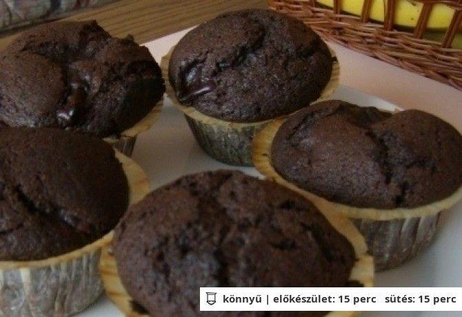 Csokipudingos muffin