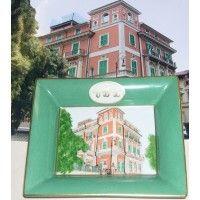 Personnalisation sur porcelaine - Colored art house on porcelain