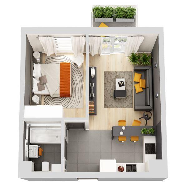 Znalezione obrazy dla zapytania projekty mieszkań