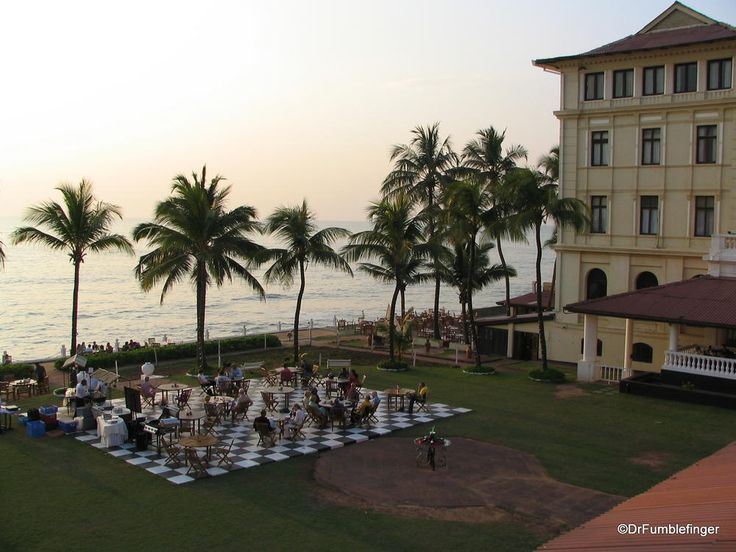 Sunset at Galle Face Hotel, Colombo, Sri Lanka