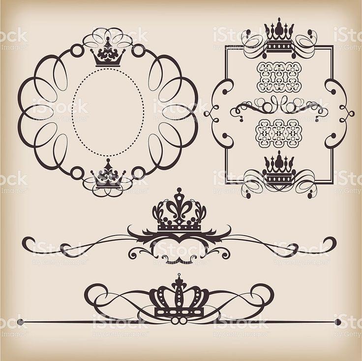 Vintage frame royalty-free stock vector art https://creativemarket.com/kio https://ru.fotolia.com/p/201081749 http://ru.depositphotos.com/portfolio-1265408.html