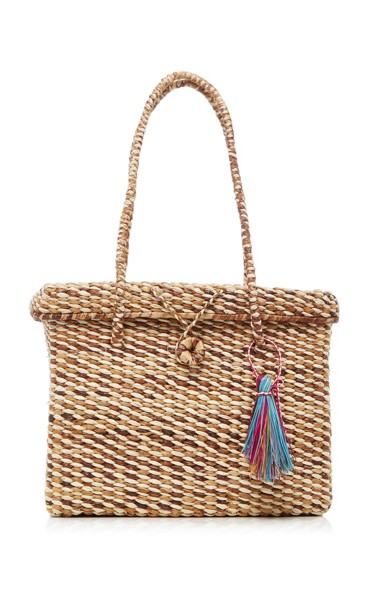 Basket Bag with Lid by G. VITERI for Preorder on Moda Operandi - 100% handmade fairtrade - Toquilla Straw and Banana Leaves