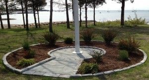... Landscaping_Art Stonework Masonry Construction Flag Pole Stone Area ...
